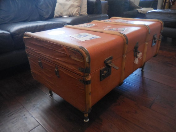 Vintage Travel Trunk Coffee Table