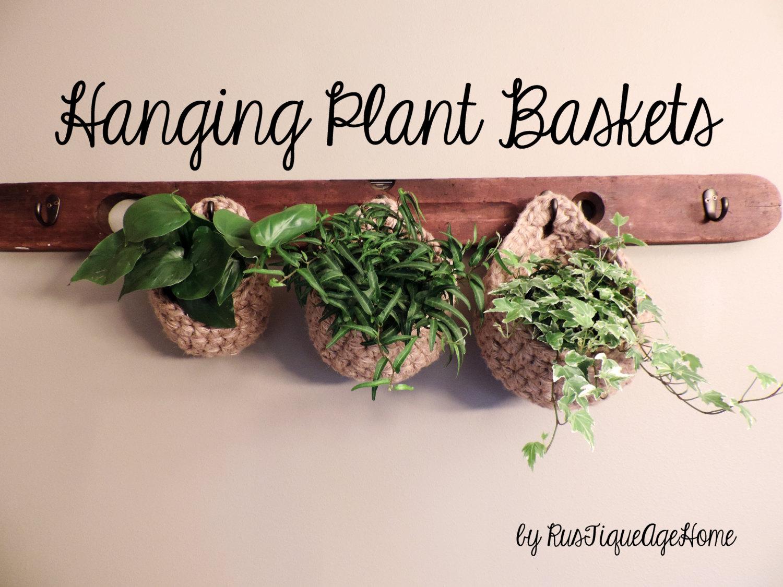 Indoor Herb Garden Baskets Plant Hanger Coat Rack Wall