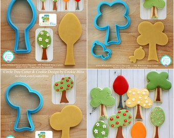 Tree Cookie Cutters and Fondant Cutters by Cookie Bliss