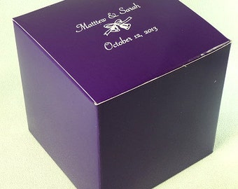 Personalized Cupcake or Candy Favor Box 4x4x4