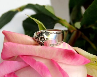 spoon ring, starlight spoon ring, classic spoon ring, flower ring