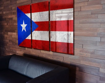 Puerto rican flag etsy for Acanthus decoration puerto rico