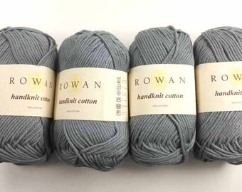 Rowan Handknit Cotton color Slate 347 gray, cotton yarn
