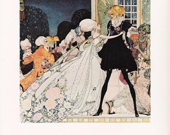 The Twelve Dancing Princesses Kay Nielsen vintage art nouveau print illustration folk tale fairy tale Brothers Grimm  8.5x11.5 inches