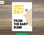 Father's Day Card - Baby Bump - Funny Card - Happy Father's Day