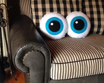 Eyeballs, Pair of Eyeballs, Geeky felt stuffed plush toy pillow