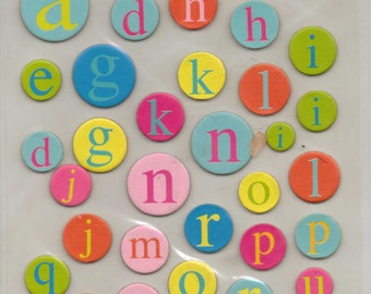 Studio112 CELEBRATION ALPHABET Adhesive Chipboard