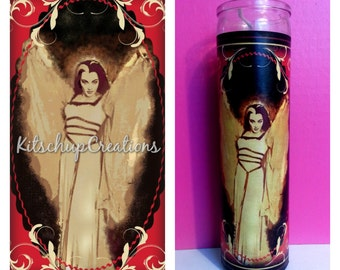 The Munsters / Lily Munster / macabre prayer candle