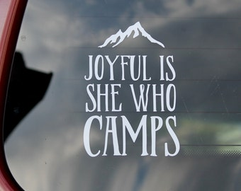 Women's Camp Girl Camping Decal