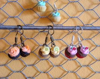 Adorable mini cupcake earrings!