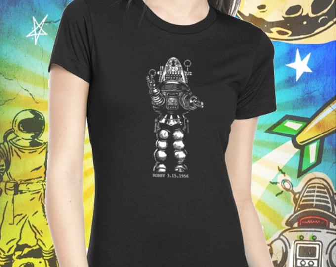 Forbidden Planet / Robby the Robot / Women's Jet Black T-Shirt