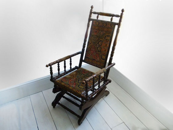 Rocking Chair, Antique Rocking Chair, Fireside Chair, Wooden Rocking ...