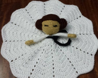 Sci Fi Princess crochet lovey