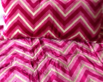 Pink zig zag cushions