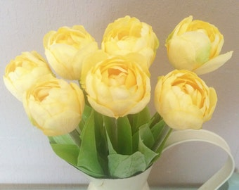 Yellow Artificial Tulip