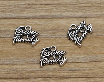 10pcs Forever Love Family Charms Antique Silver Tone 16*13mm 803