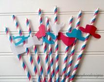 cowboy indian birthday party straws, cowboy party straws, pow wow party straws, cowboy indian birthday, pow wow birthday, wild west birthday
