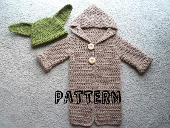 Crochet Pdf Pattern Only For A Yoda Set Pattern Includes