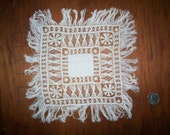 Antique square doily lace hand done
