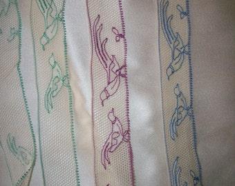 Rare picture/museum lace birds fine cotton lace 1920s