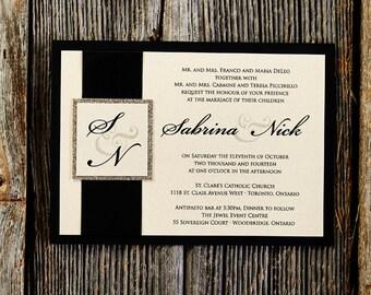 Classically Modern - Custom Wedding Invitation