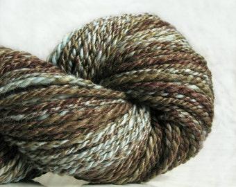 Wool handspun yarn EARTH 6 oz 148 yards 21 mc / 170 g 133 m knittng scarf yarn