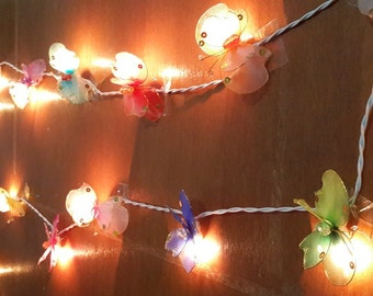 handmade butterfly so cute mix color string lights 20 flowers party patio fairy decor wedding bedroom kid room