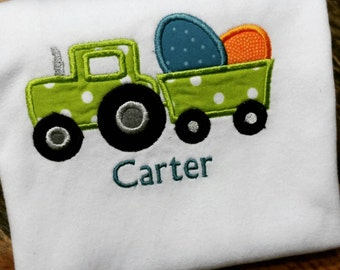 Easter Tractor with Eggs Shirt