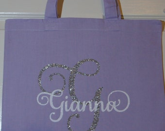 Custom Bridal Party Gift Bags - Bridesmaid Shown - Customize for names, colors, bridesmaid, maid or matron of honor, bride, flower girl