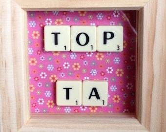 Teacher Gift Scrabble Frame, Scrabble Art, Teacher, Teaching Assistant
