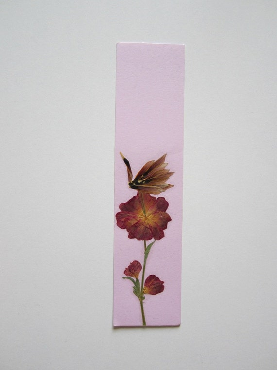 Handmade unique bookmark quot on one s own flower quot decorated with