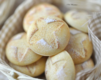Miniature Baguette, Bread Pugliese, Rosetta,Ferrara Italian Bread -Dollhouse 1 PCS Scale 1: 12-Store Bakery