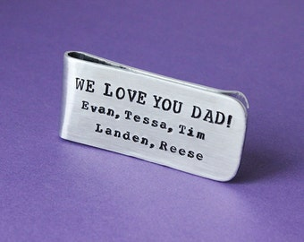 Personalized Money Clip - Father's Day Gift - Custom Money Clip - Dad Gift - Grandpa - Grandfather - Groom - Groomsmen - Engraved Money Clip