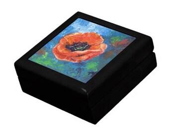 Keepsake Box - Poppy Design - Treasure Gift Box