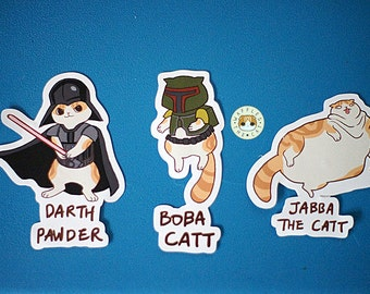 Star Paws - Villains Pack Star Wars Funny Cat Stickers