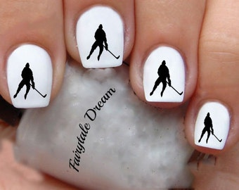 1043 Hockey 20 Water Slide Nail Art Transfer Decals stickers