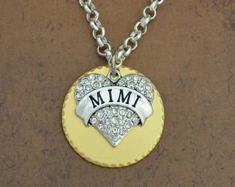 Mimi Heart Gold Disk Necklace - GDNCK00635