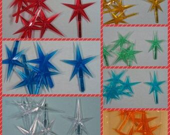MEDIUM Star for CERAMIC CHRISTMAS Tree. Pick from 7 colors.