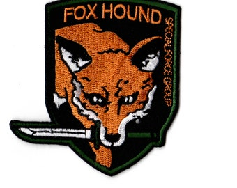 Metal Gear Solid FOXHOUND Velcro Patch Solid Snake Cosplay Big Boss Emblem