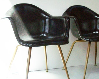 Vintage Cromcraft Fiberglass Modern Chairs / 1960's Style / Good Color and Condition /