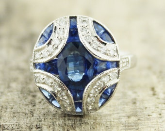 Vintage Diamonds and Sapphires ring