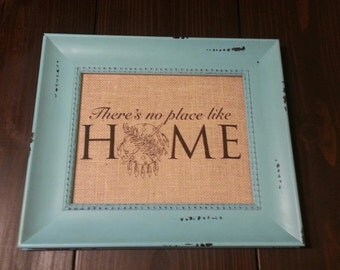 Burlap wall Art (frame is included). Theres no place like Home(Oklahoma). #okie