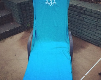 Monogrammed Lounge Chair Covers