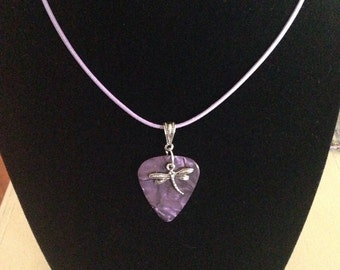 Dragonfly Guitar Pick Necklace