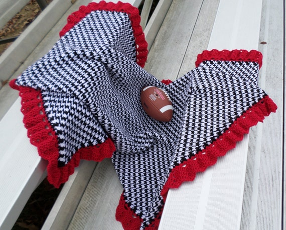 Alabama Throw Baby Blanket Houndstooth by JennaWingateDesigns