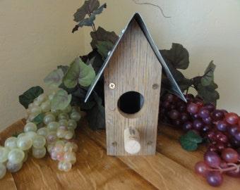 Wine Stave bird house