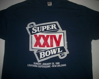 SUPERBOWL XXIV 1990 t shirt