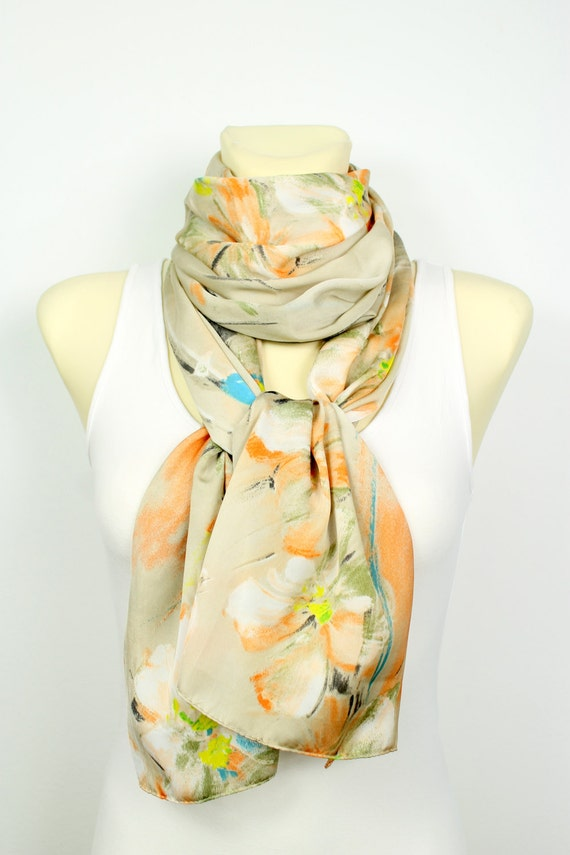 Boho Chic Scarf Unique Fabric Scarf Floral Print Scarf Women Fashion Accessories Gift For Her Summer Outdoors Summer Party Gift Women Wife