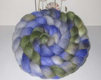 Polwarth Wool Roving - Hand Dyed Roving for Spinning and Felting