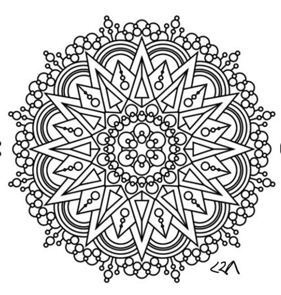 intricate mandala coloring pages free - photo#14